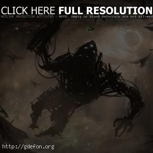 Подзёмный темный монстр