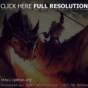 воин на драконе