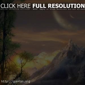 Долина на закате солнца