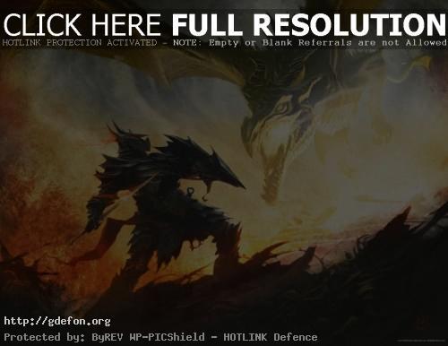 Обои Воин и дракон фото картики заставки