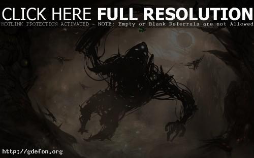 Обои Подзёмный темный монстр фото картики заставки