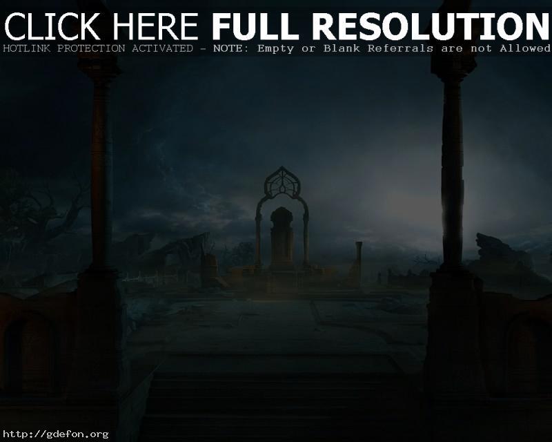Обои арка, руины, магия фото картики заставки