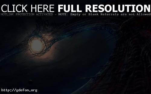 Обои Зловещая космическая станция фото картики заставки