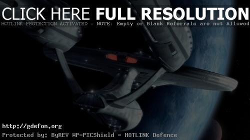 Обои Космический корабль Enterprise из Star Trek фото картики заставки