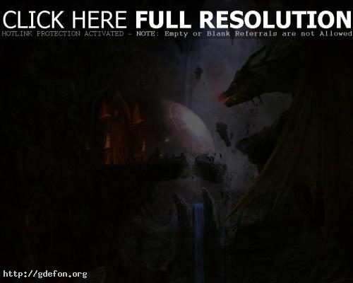 Обои Бой мага и дракон фото картики заставки