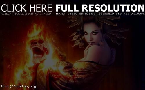 Обои Огонь ведьмы фото картики заставки