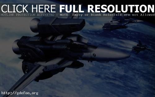 Обои Эскадрилия легких космических истребителей фото картики заставки