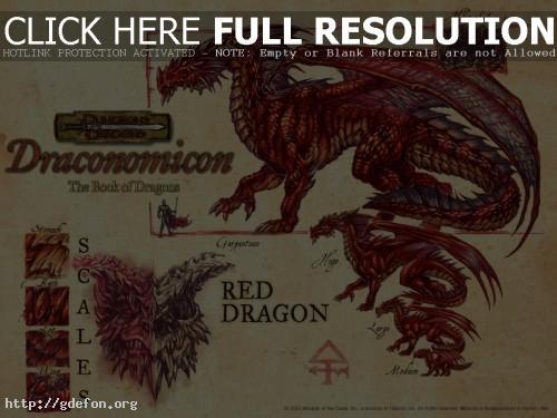 Обои Гигантский красный дракон фото картики заставки
