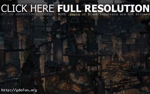 Обои Город будущего фото картики заставки
