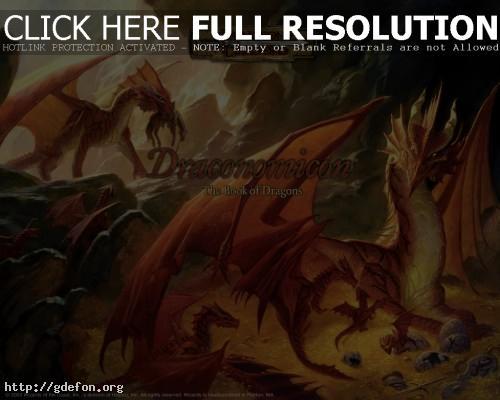Обои Красные драконы фото картики заставки