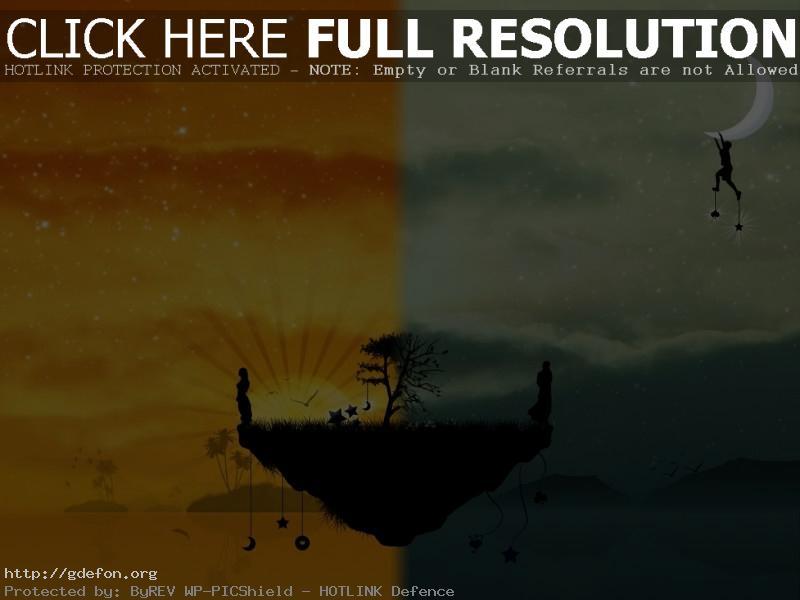 Обои Два мира фото картики заставки