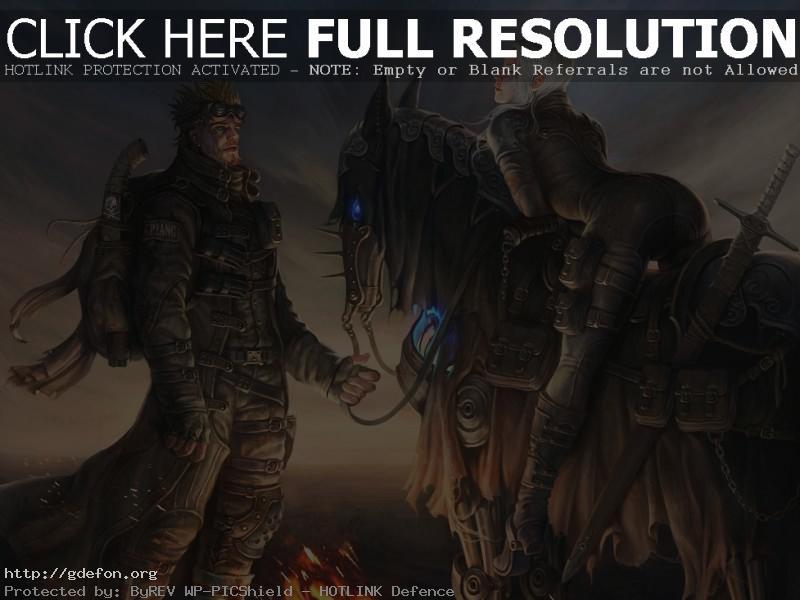 Обои путник и эльфийка на лошади фото картики заставки
