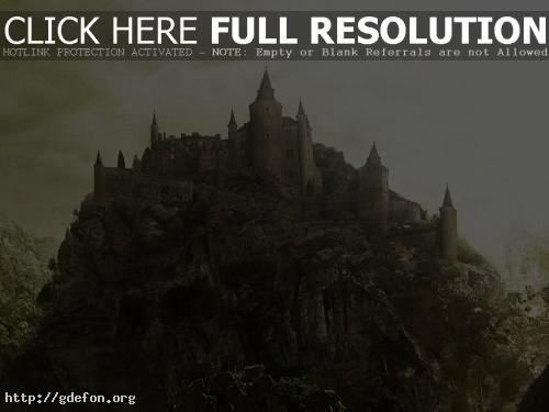 Обои Замок на утесе фото картики заставки