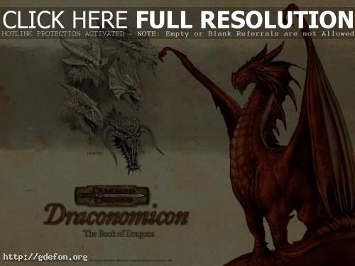 Обои Draconomicon — Red Dragon фото картики заставки