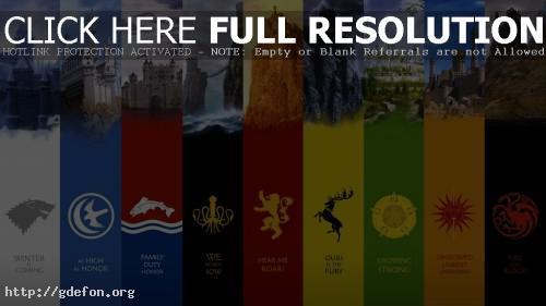 Обои Семь королевств Вестероса фото картики заставки
