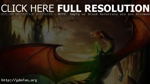 Обои Драконы и маг фото картики заставки