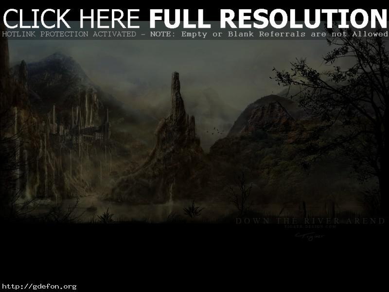 Обои Замок на склоне горы фото картики заставки