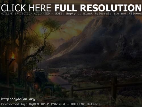 Обои Вид на горы фото картики заставки