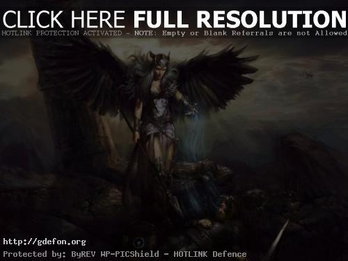 Обои Валькирия над сраженным воином фото картики заставки