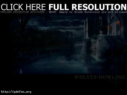 Обои Ветхий замок ночью фото картики заставки