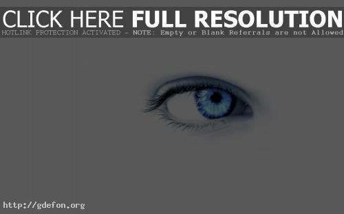Обои Голубой глаз на белом фоне фото картики заставки
