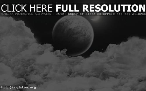 Обои Луна спряталась в облаках фото картики заставки