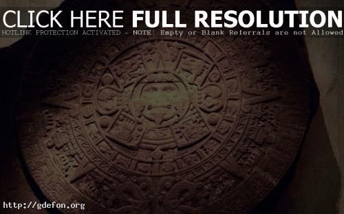 Обои Древний календарь майя фото картики заставки