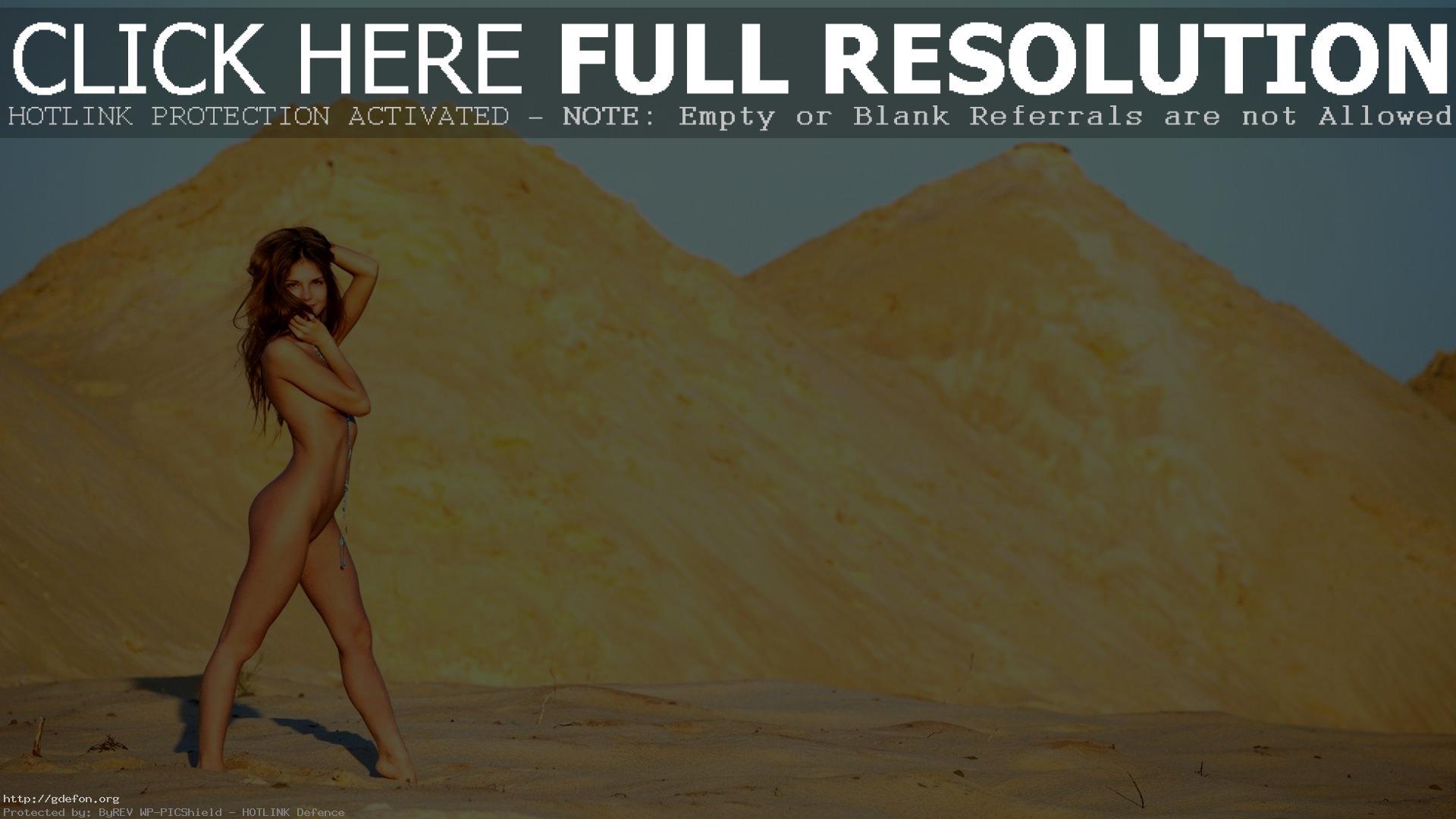 Naked Hiking In The Desert