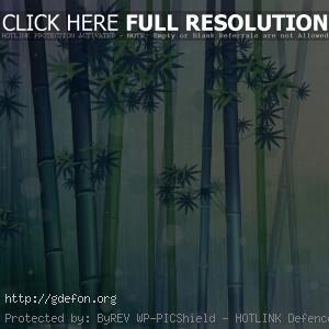 Бамбук, свежесть, зеленое