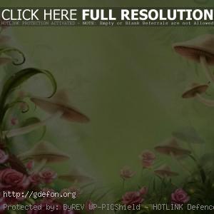 детство, сказка, грибы, цветы