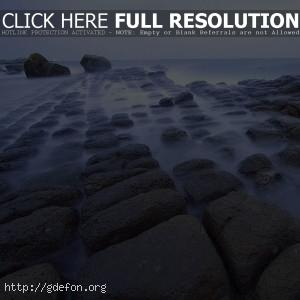 Море, туман, камни, берег