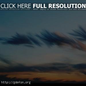 Облака, рисунок, небо