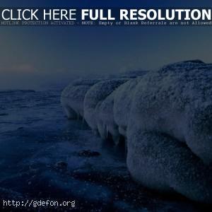 Природа, лед, вода, холод