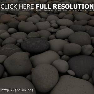 Пляж, галька, камни, прибой, природа