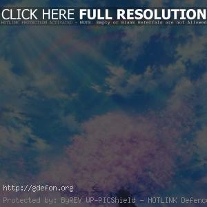 Рисунок, сакура, облака, небо, ветер