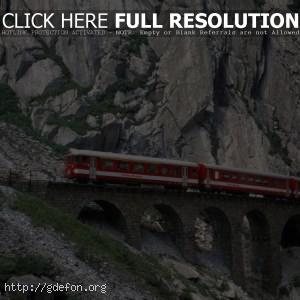 Швейцария, Железная дорог, мост, тунель