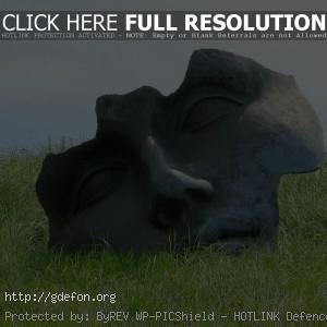 Трава, лицо, памятник