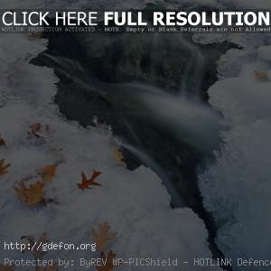 Зима, лед, вода