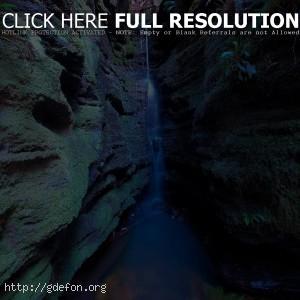 Ущелье, водопад, ручей