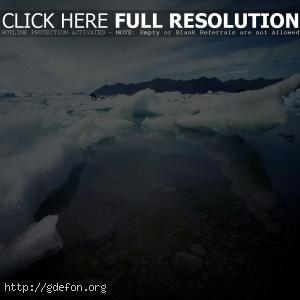 Лед, льдины, вода