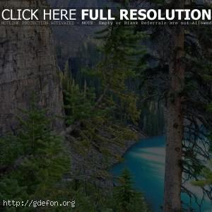 Горы, озеро, Канада