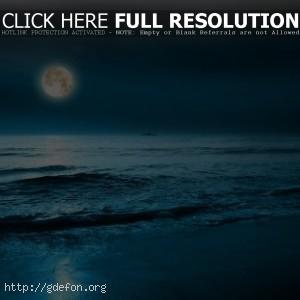 Луна, море, корабль