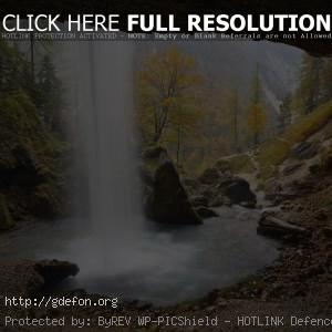Водопад, горы, поток, камни