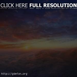 Облака, восход, небо