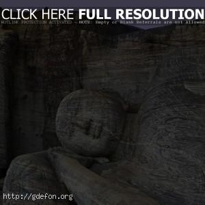 Будда, статуи, камень, скалы