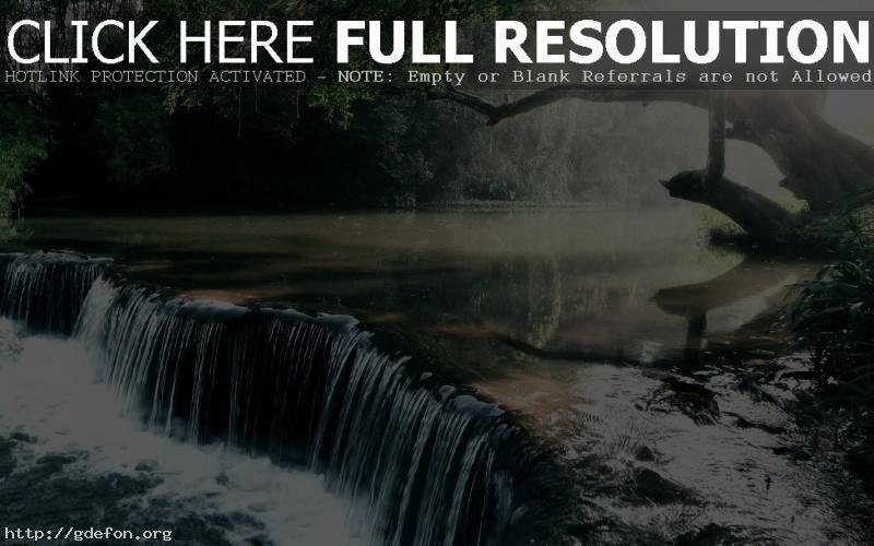 Обои Водопад, река, свет фото картики заставки