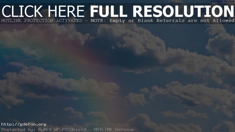 Обои Небо, облака, радуга фото картики заставки