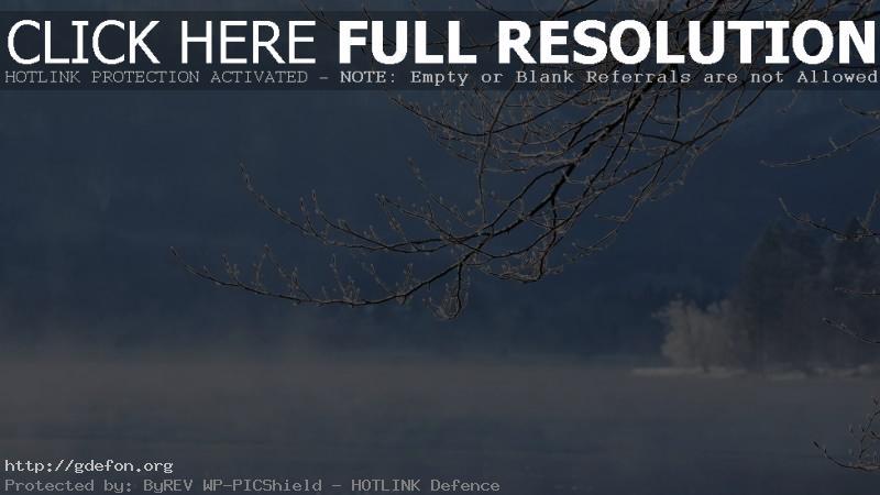 Обои Зима, снег, река, вода фото картики заставки