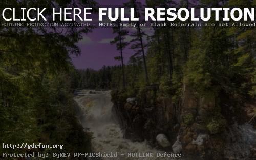 Обои Река, водопад, небо, лес, природа, пейзаж фото картики заставки