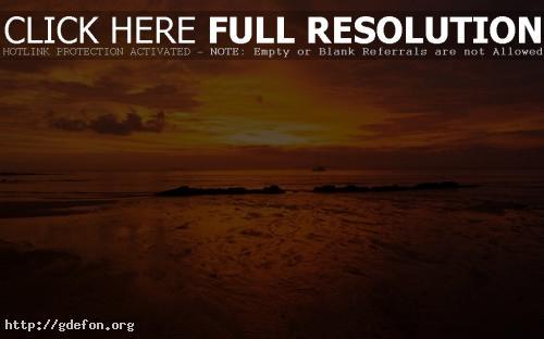 Обои Оранжевый закат в облаках фото картики заставки